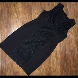 Dresses & Skirts - Daisy Fuentes Black And Lace Sleeveless Dress XL